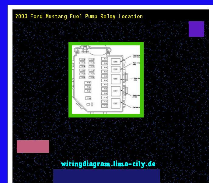Terrific 2003 Ford Mustang Fuel Pump Relay Location Wiring Diagram 174513 Wiring Cloud Faunaidewilluminateatxorg