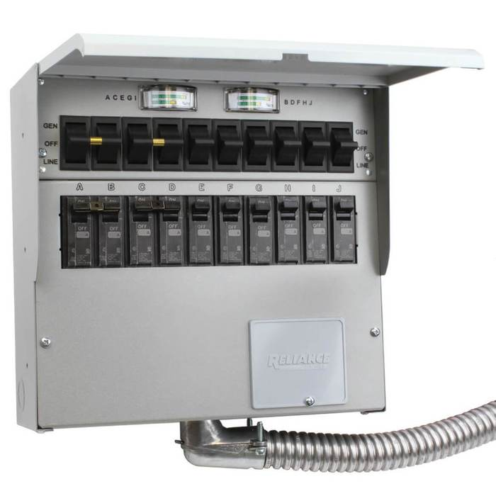 Astonishing Reliance A510C 120 240 Volt 50 Amp 10 Circuit Pro Tran 2 Transfer Wiring Cloud Apomsimijknierdonabenoleattemohammedshrineorg