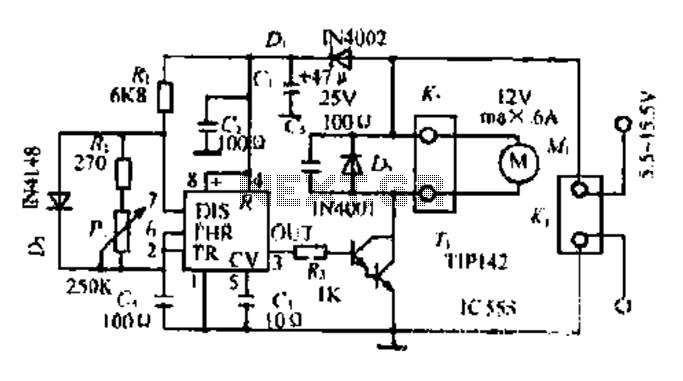Pleasant A Dc Motor Pwm Speed Control Circuit Under Motor Control Circuits Wiring Cloud Uslyletkolfr09Org