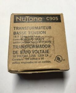 Astonishing Nutone C905 Low Voltage Transformer 16V 10Va 120V New In Box Wiring Cloud Hemtshollocom