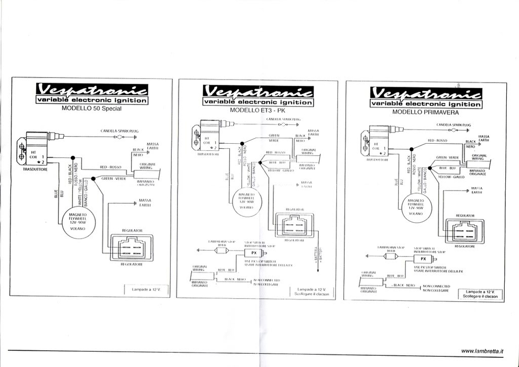 Vespa Vbb 12v Conversion Wiring Diagram