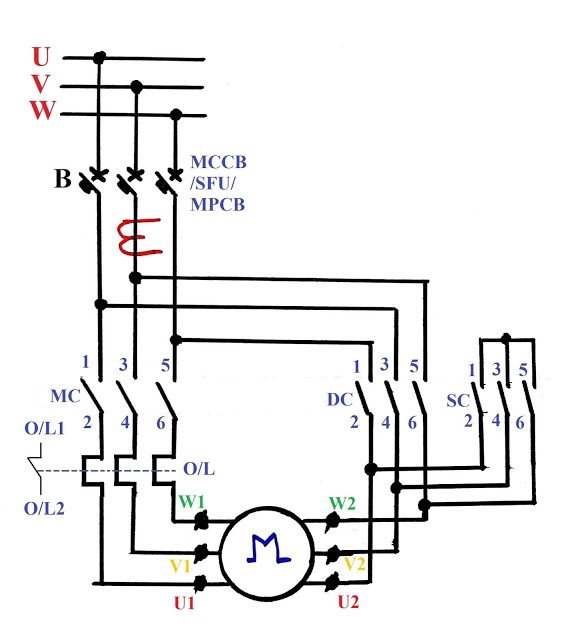 delta wiring diagrams lf 8080  power circuit of stardelta starter free diagram  power circuit of stardelta starter free