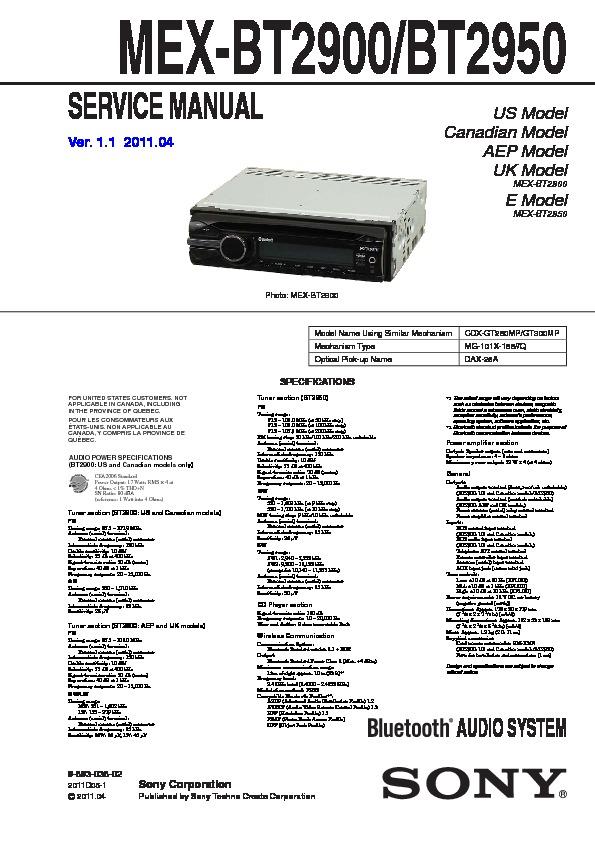 ea6891 sony car audio systems wiring free diagram