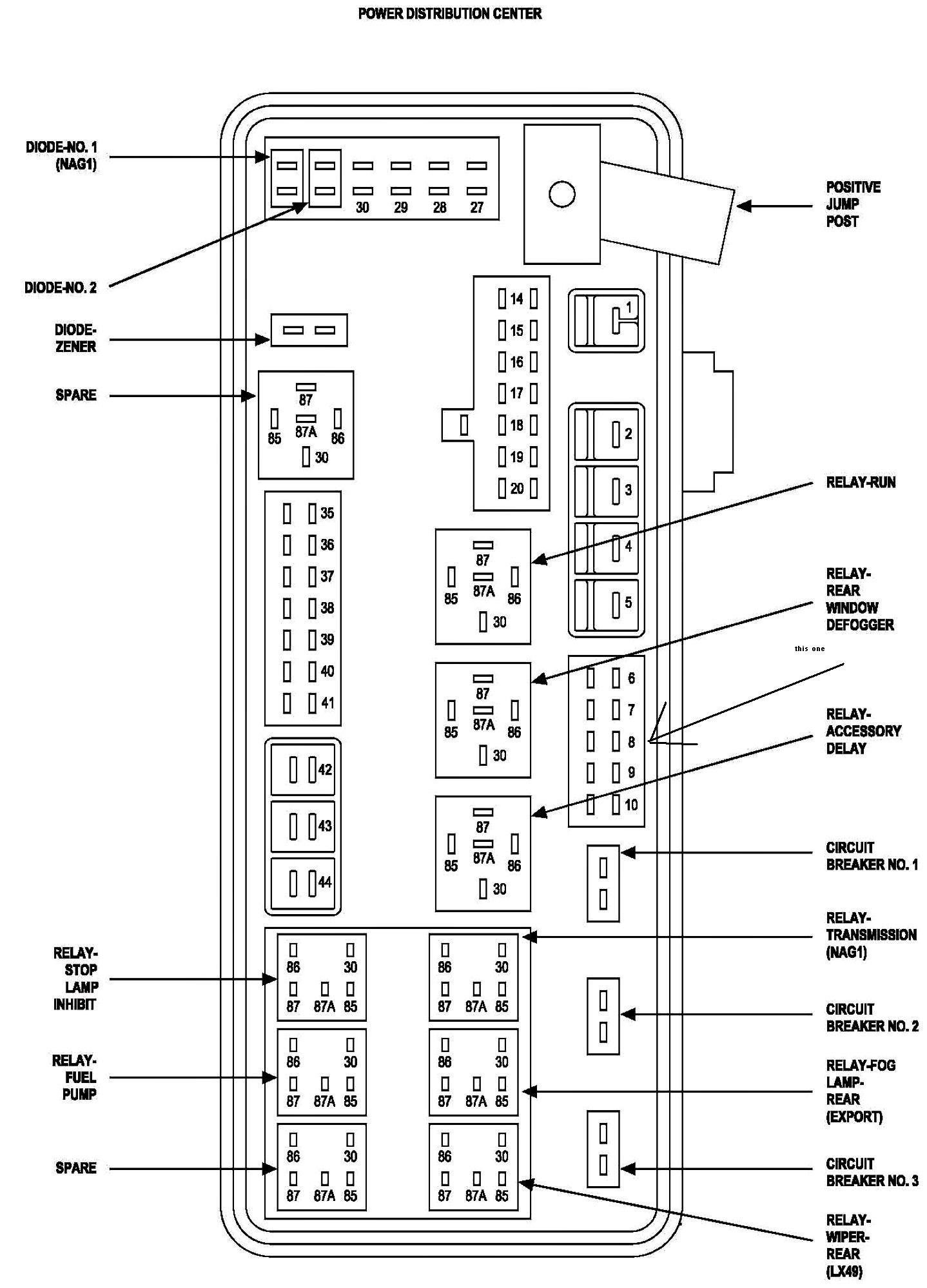 Astounding 1989 Dodge Ram Fuse Box Wiring Diagram Wiring Cloud Hemtshollocom