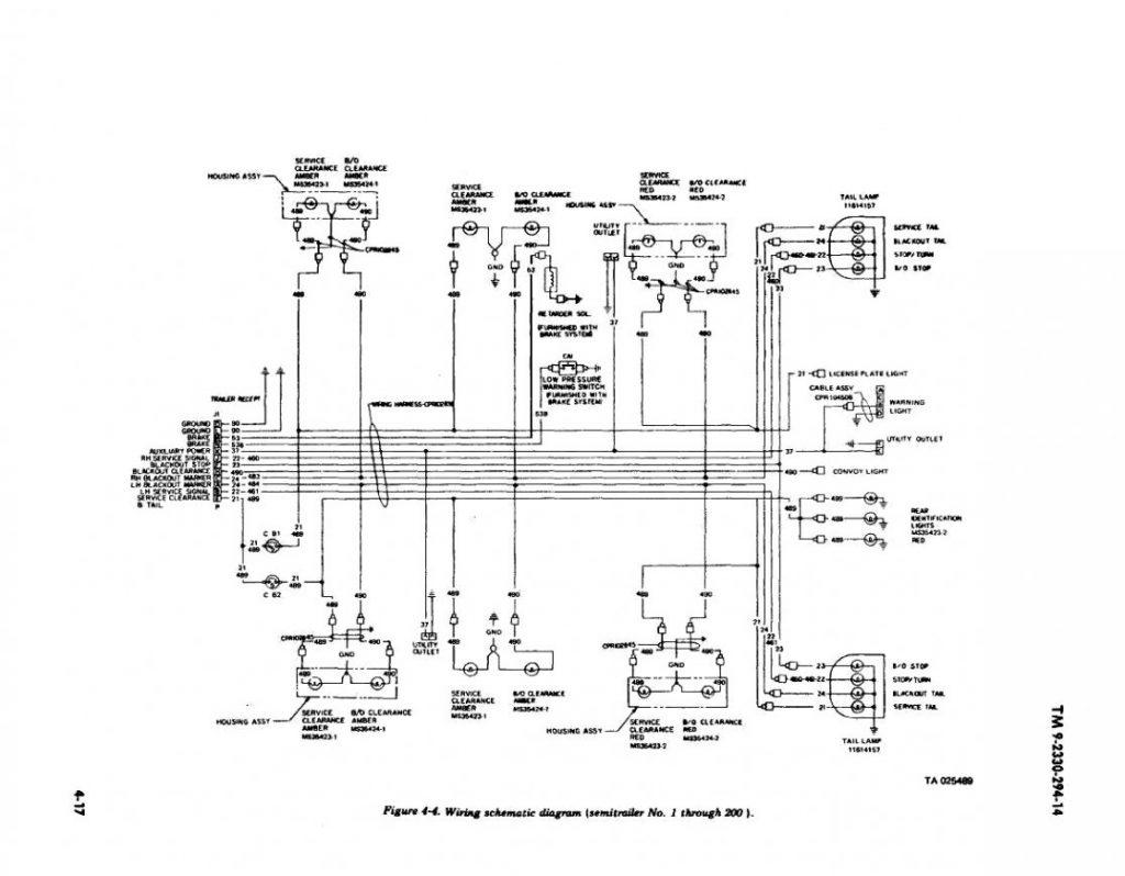 Semi Trailer Light Plug Wiring Diagram - Database