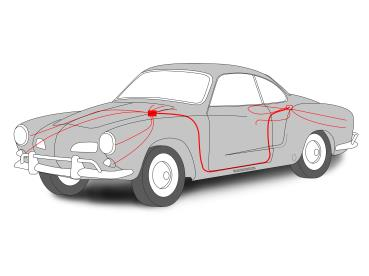 Miraculous Air Cooled Vw 1968 1969 Karmann Ghia Coupe Or Convertible Complete Wiring Cloud Apomsimijknierdonabenoleattemohammedshrineorg