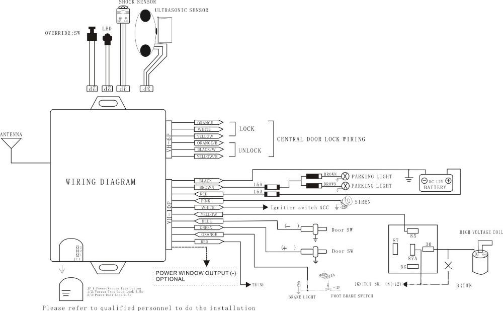 Wiring Diagram Remote Alarm Mobil