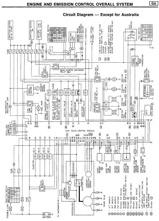 Nissan Ga15 Ecu Wiring Diagram