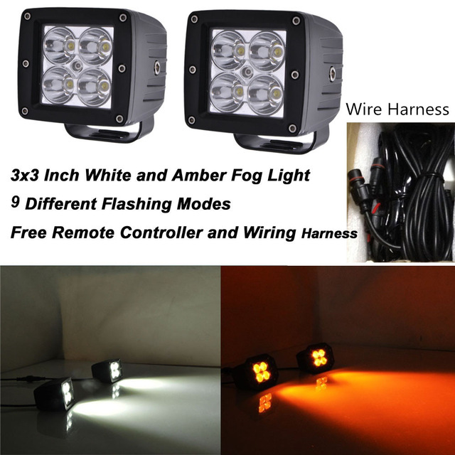 Admirable Honzdda 24W Led Work Lights For Tractors White Amber Color Changing Wiring Cloud Monangrecoveryedborg