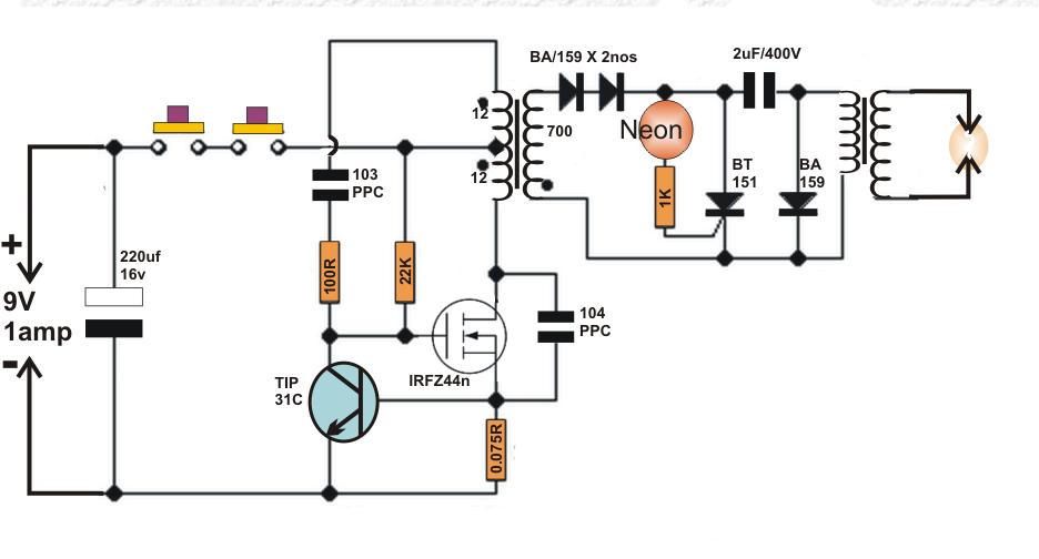 Fabulous Homemade Circuit Projects Diy Taser Gun Circuit Elektronik Wiring Cloud Vieworaidewilluminateatxorg