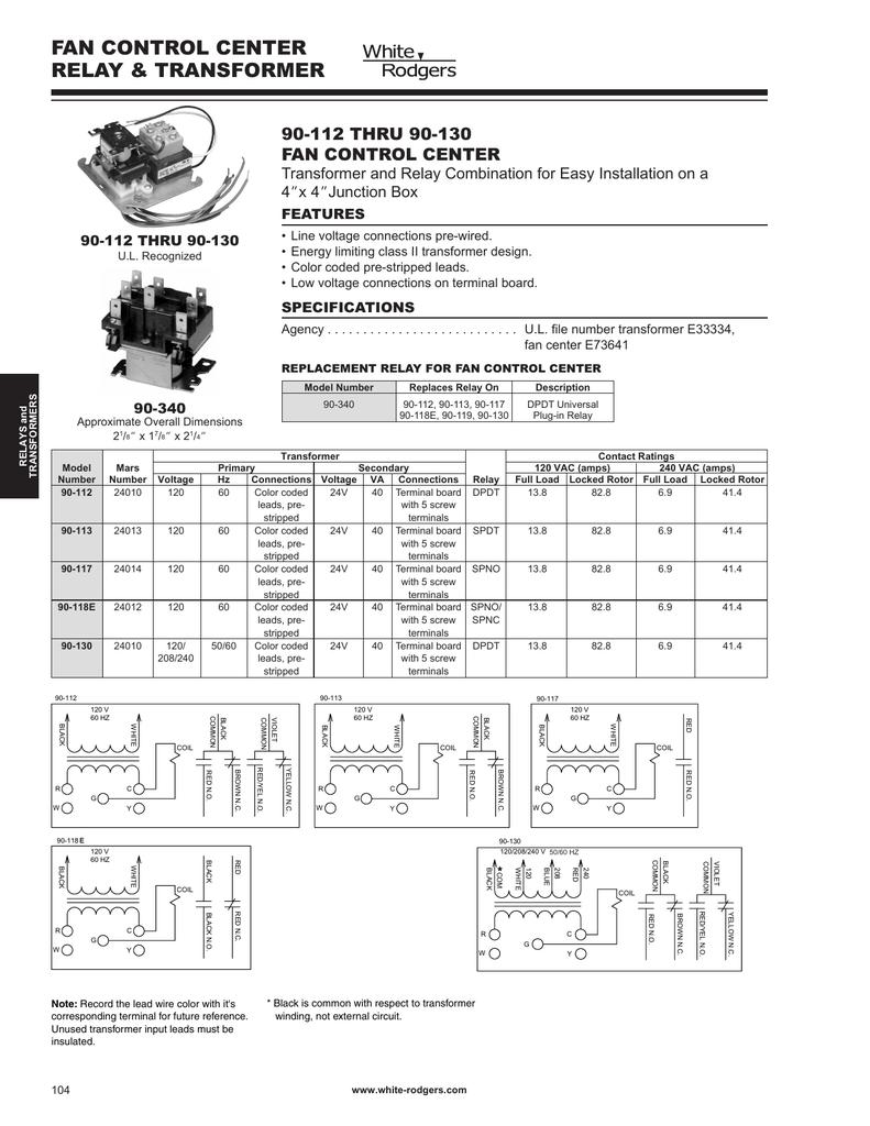 White Rodgers Rbm Type 91 Relay Wiring Diagram