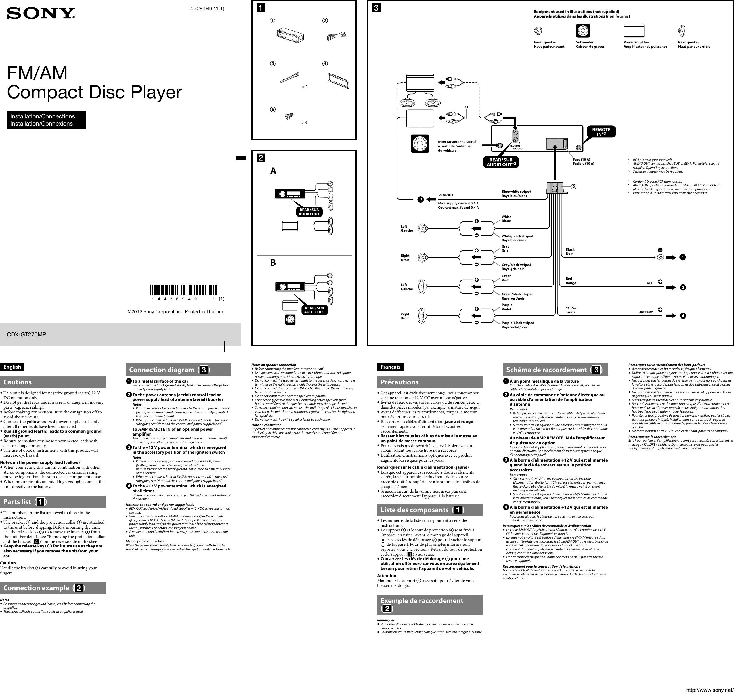 Remarkable Sony Gt270Mp Wiring Diagram Wiring Diagrams Wiring Cloud Waroletkolfr09Org