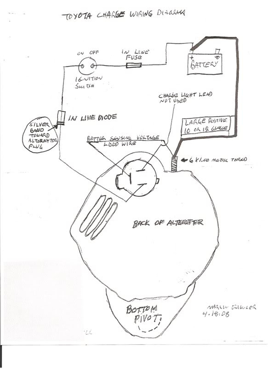 Toyota 22re Alternator Wiring Diagram