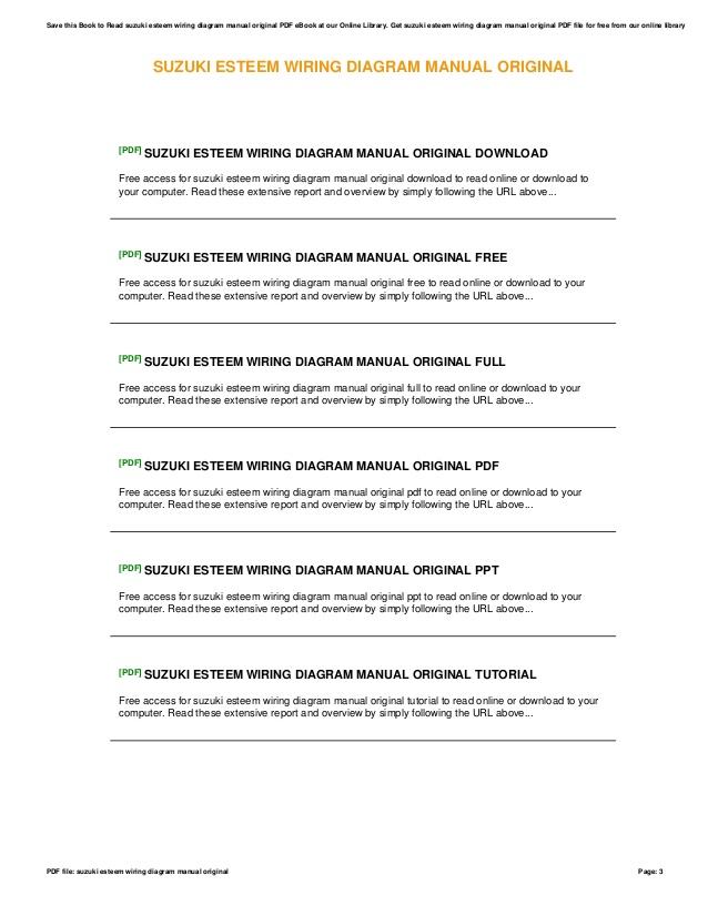 Hb 2195 2001 Suzuki Esteem Belt Diagram Wiring Schematic Download Diagram