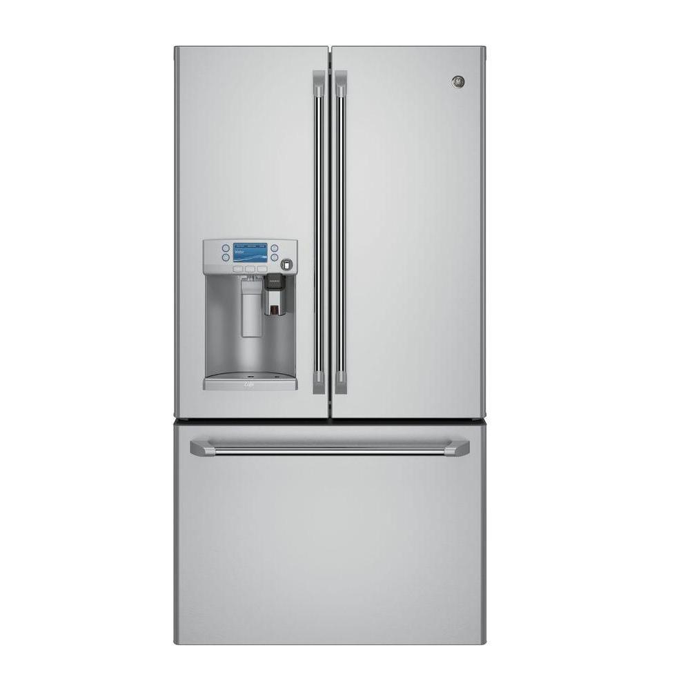 Fantastic Cafe 22 2 Cu Ft Smart French Door Refrigerator With Keurig K Cup Wiring Cloud Faunaidewilluminateatxorg
