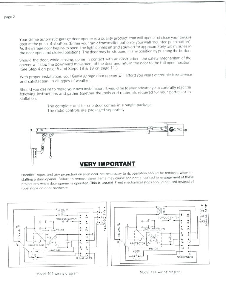 le8305 genie intellicode garage door opener wiring diagram
