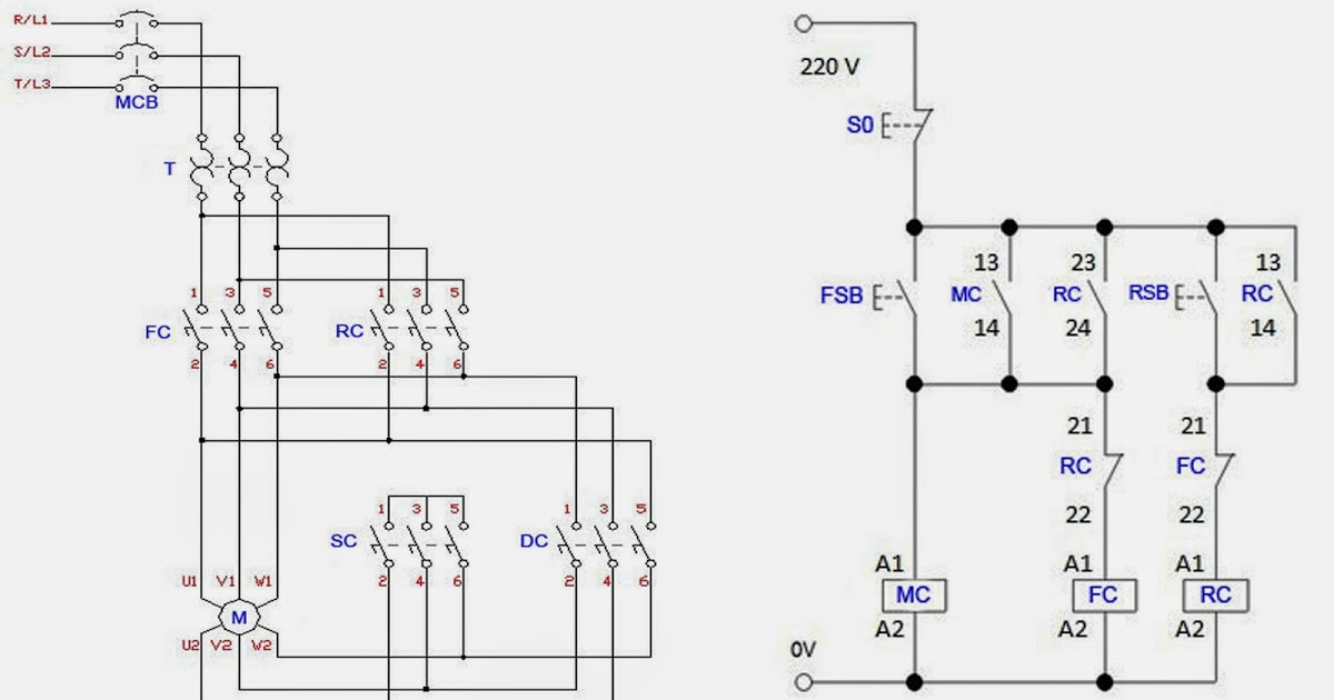 Ac Motor Forward Reverse Control Circuit Diagram