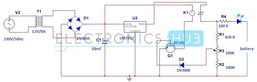 Swell Simple Car Battery Charger And Indicator Circuit Diagram Wiring Cloud Picalendutblikvittorg