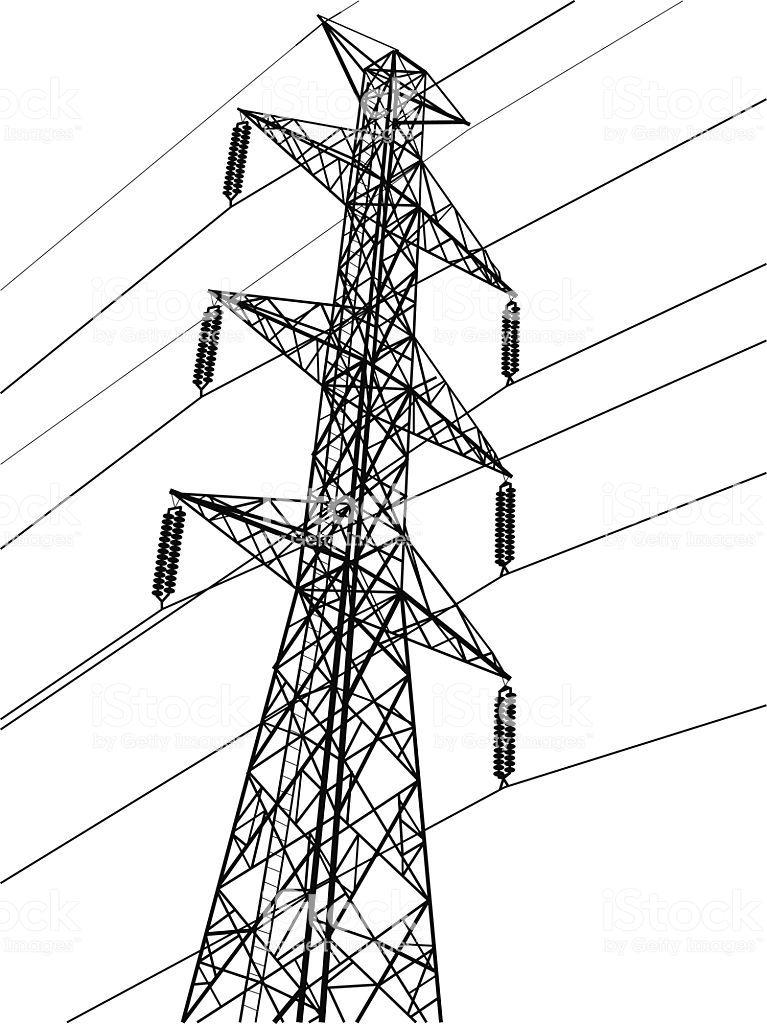 Phenomenal High Voltage Power Pole Line Vector Auto Electrical Wiring Diagram Wiring Cloud Rineaidewilluminateatxorg
