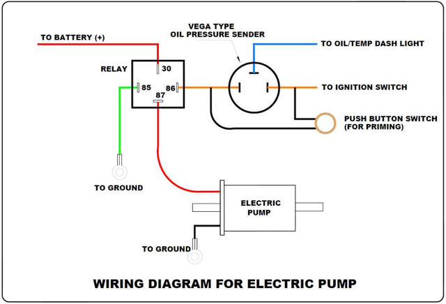 Yz 6751 Wiring Electric Fuel Pump Oil Pressure Switch Download Diagram