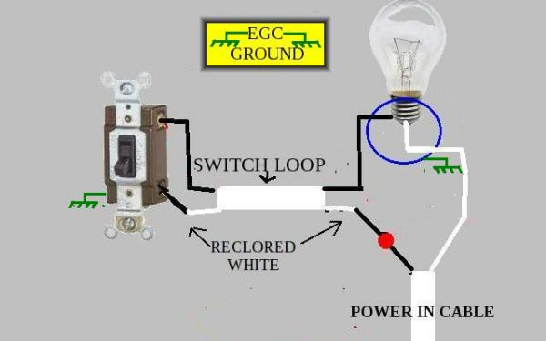 Wiring A Loop Light Switch Diagram