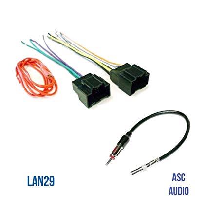 Tremendous Amazon Com Asc Audio Car Stereo Radio Wire Harness Plug And Antenna Wiring Cloud Itislusmarecoveryedborg