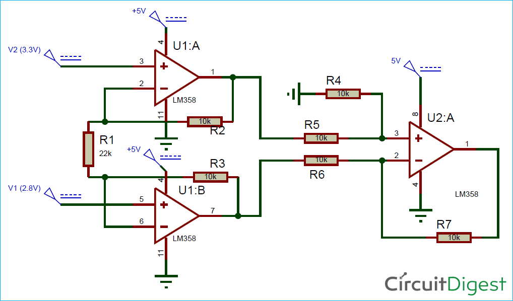 Brilliant Instrumentation Amplifier Circuit Diagram Using Op Amp Wiring Cloud Hisonepsysticxongrecoveryedborg
