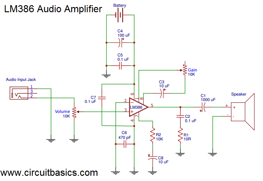 Sensational Build A Great Sounding Audio Amplifier With Bass Boost From The Lm386 Wiring Cloud Hemtshollocom