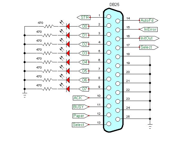 Wondrous Parallel Port Wiring Diagram Basic Electronics Wiring Diagram Wiring Cloud Gufailluminateatxorg