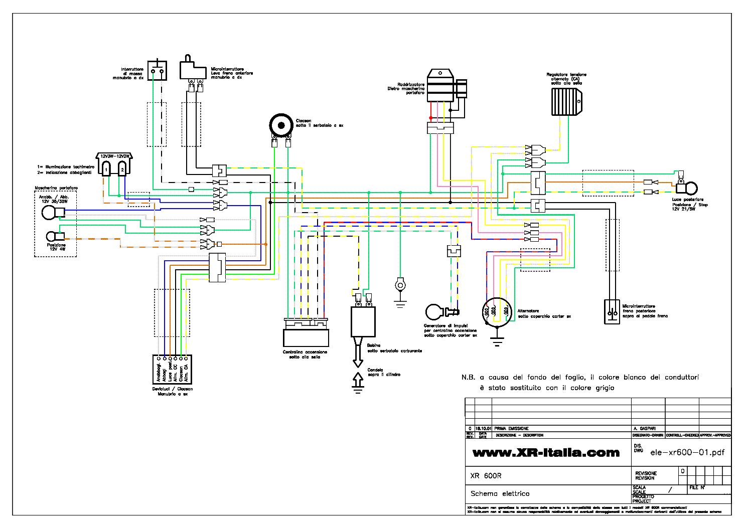 1985 Xr600 Wiring Diagram