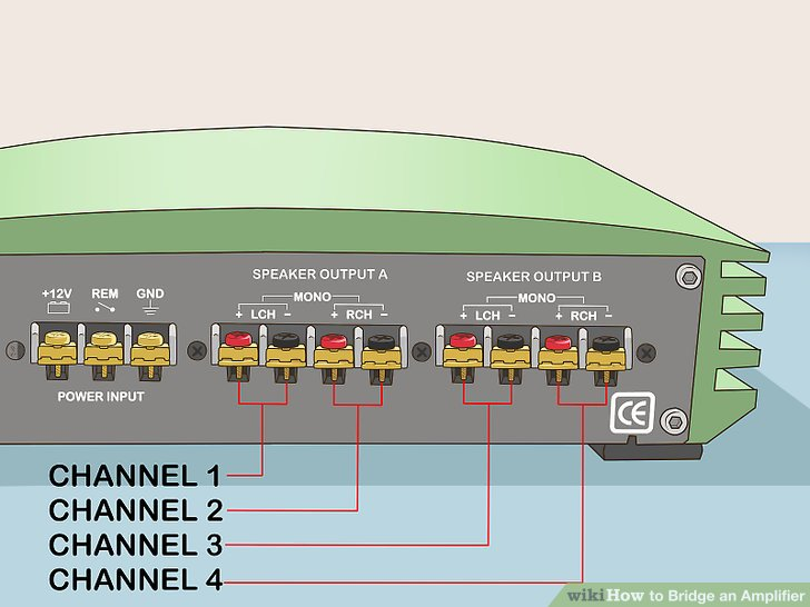 Fantastic How To Bridge An Amplifier 7 Steps With Pictures Wikihow Wiring Cloud Timewinrebemohammedshrineorg