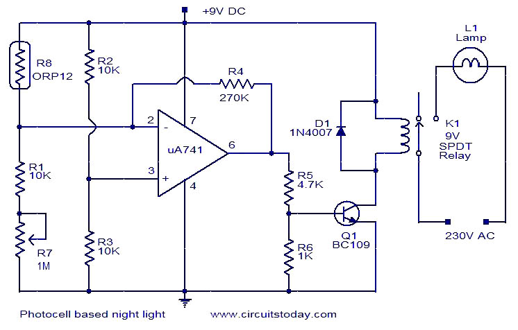 Terrific Photocell Based Night Light Electronic Circuits And Diagrams Wiring Cloud Lukepaidewilluminateatxorg