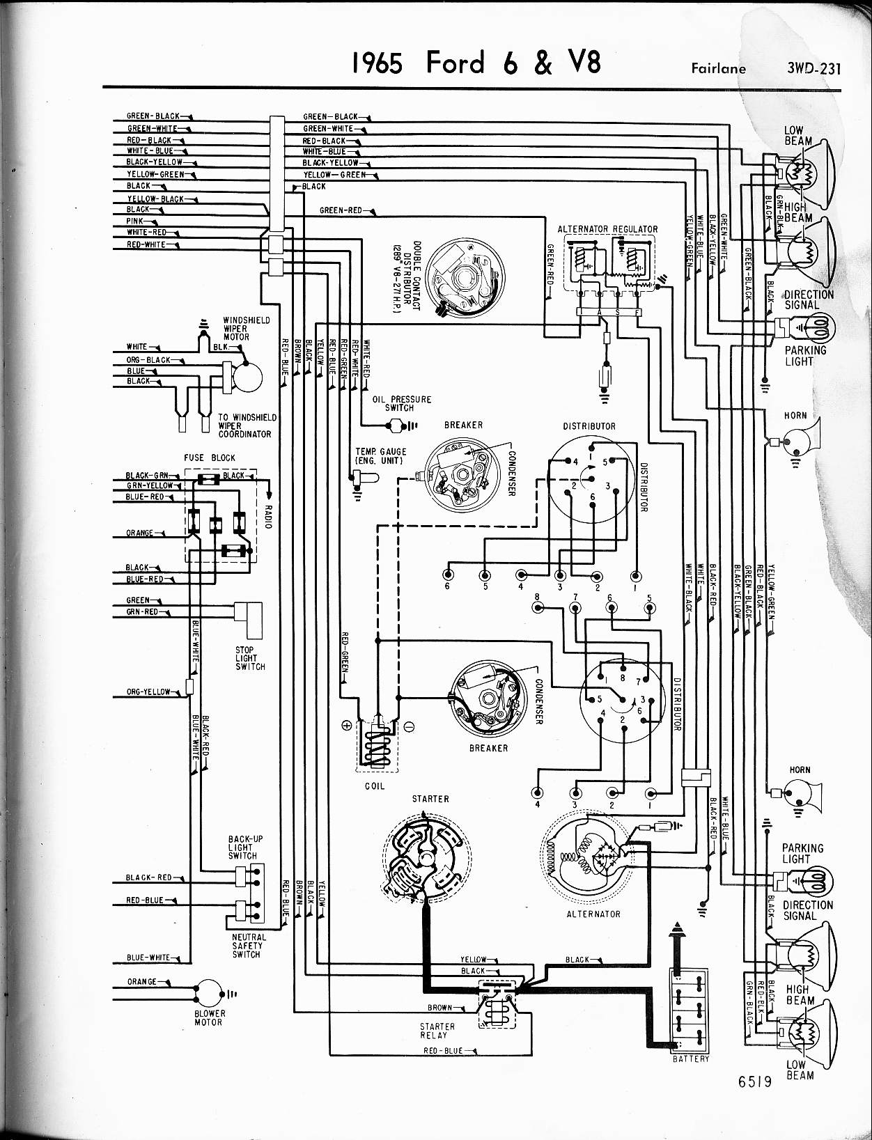 Peachy 57 65 Ford Wiring Diagrams Wiring Cloud Monangrecoveryedborg