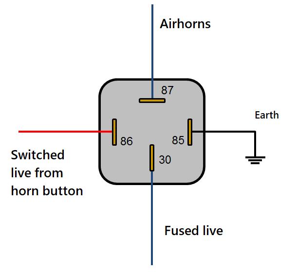 Wr 4330 Relay Switch Horn Schematic Wiring