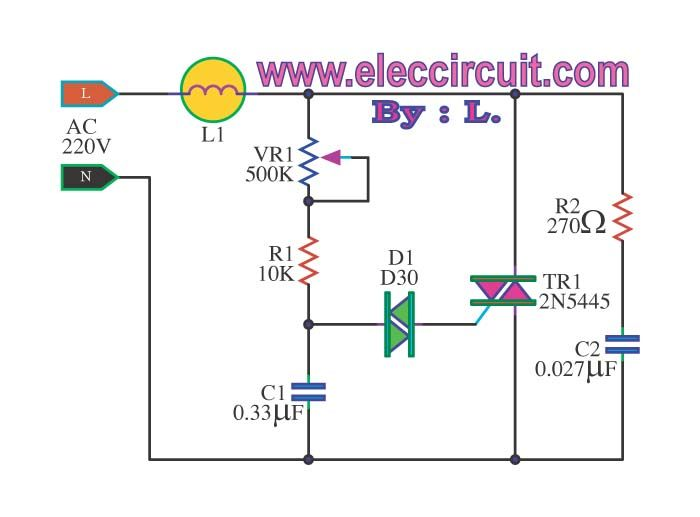 Superb Dimmer Circuit Using Scr Triac Eleccircuit Com Neat Dim Wiring Cloud Mousmenurrecoveryedborg