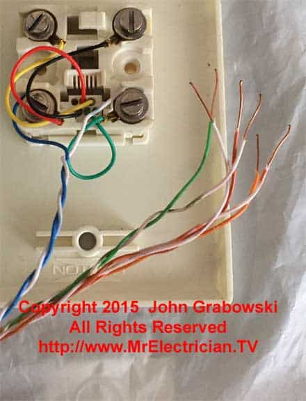 old phone jack wiring diagram ro 5463  telephone line colorcodes for home wiring in the usa  ro 5463  telephone line colorcodes for
