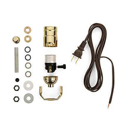 Stupendous Lamp Making Kit Electrical Wiring Kit To Make Or Refurbish Lamps Wiring Cloud Intelaidewilluminateatxorg