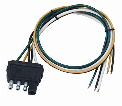 4-Feet Ground and 5-Feet Aux Wesbar 5-Flat Trailer End Connector with 40-Feet Wishbone Harness