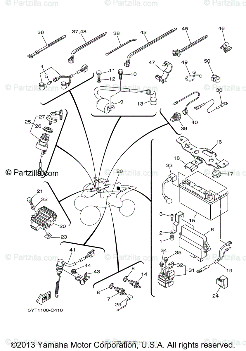 2008 Yamaha Raptor 700 Wiring Diagram