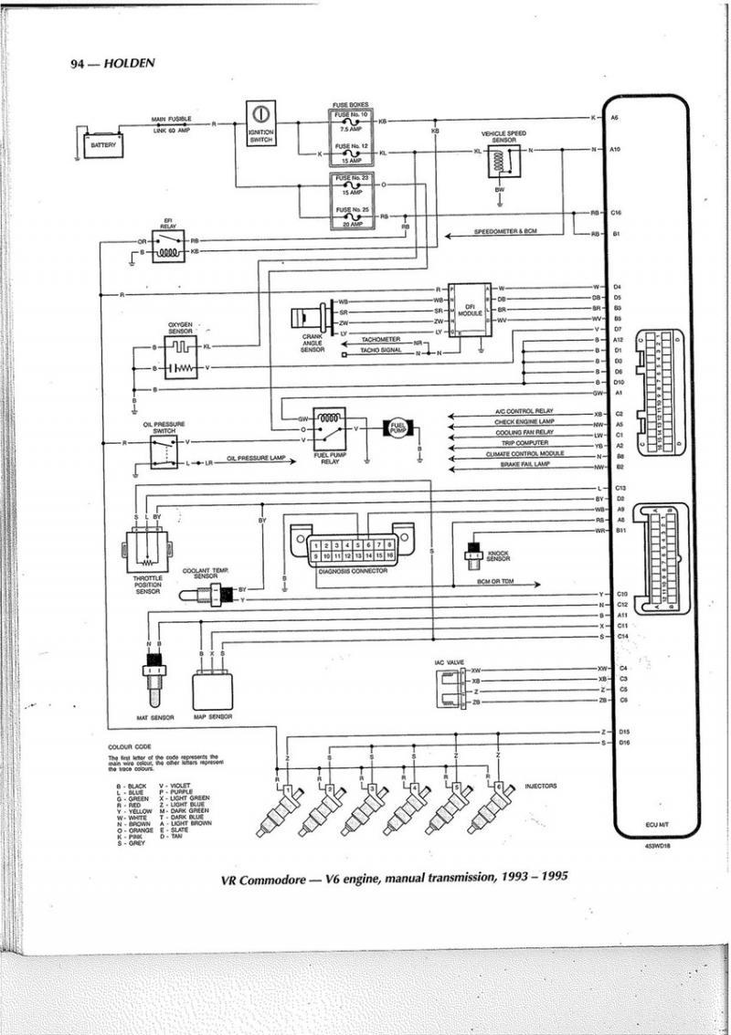 Vs V6 Commodore Ecu Wiring Diagram