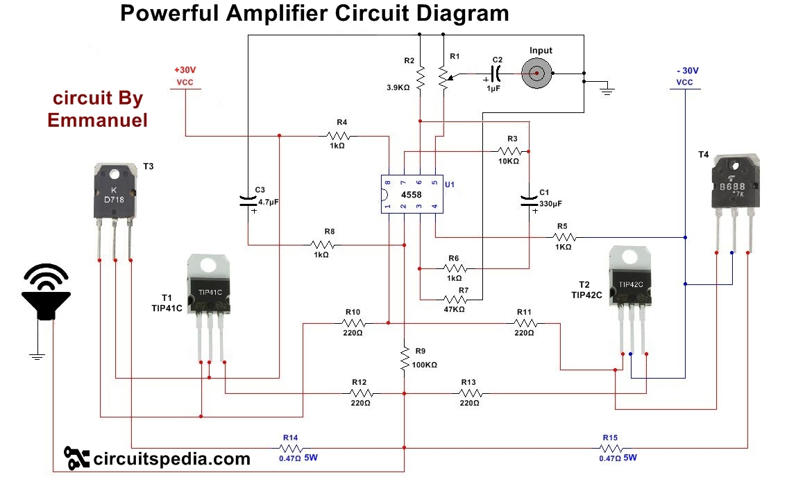Admirable How To Make Audio Power Amplifier Circuit Electronic Projects Wiring Cloud Onicaxeromohammedshrineorg
