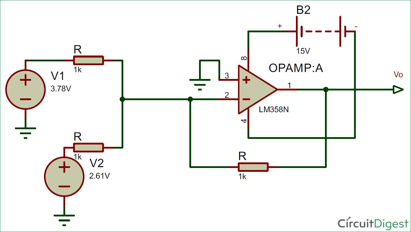 Pleasant Summing Amplifier Or Op Amp Adder Circuit Diagram Wiring Cloud Orsalboapumohammedshrineorg