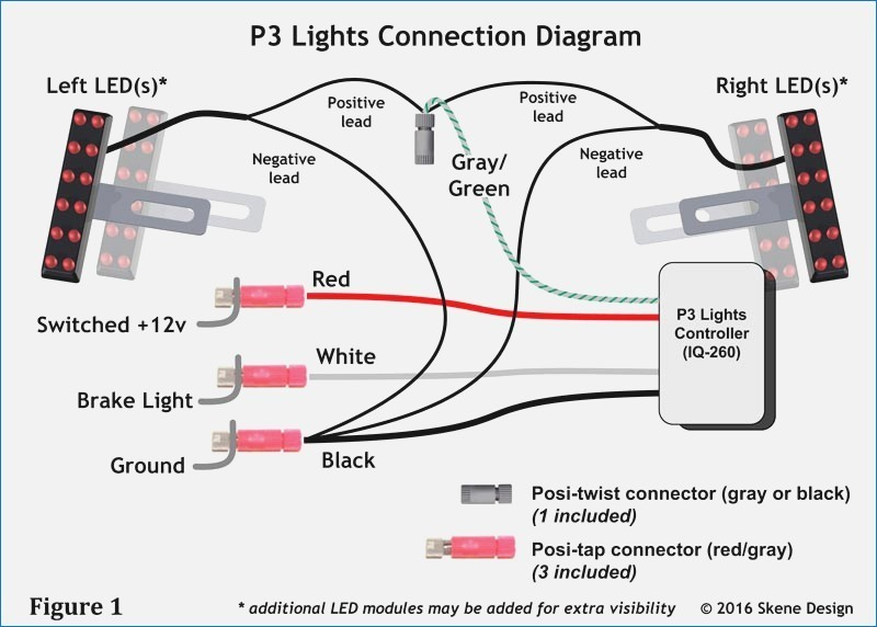 3 wire led tail lights wiring diagram  wiring a pa system
