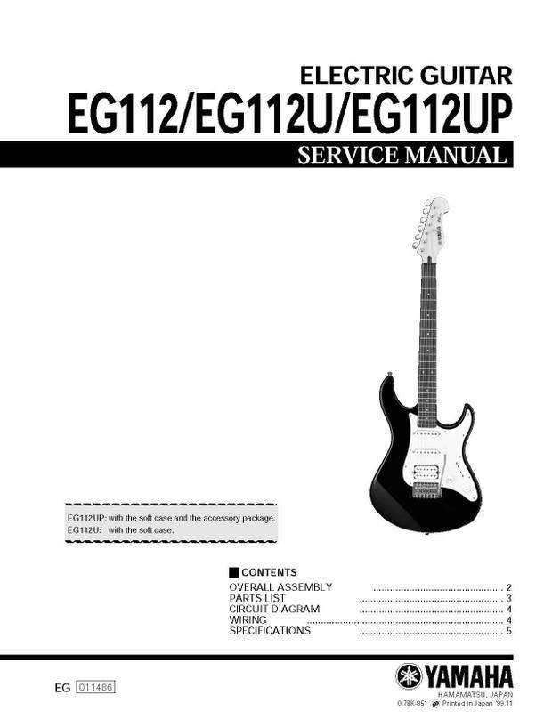 Cool Yamaha Eg112 Eg112U Eg112Up Service Manual Music Manuals Wiring Cloud Filiciilluminateatxorg