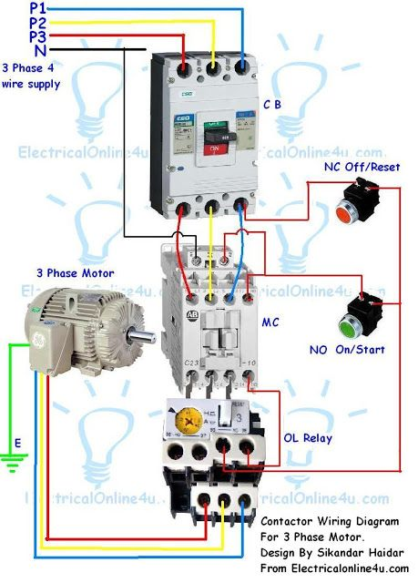 Cool Contactor Wiring Guide For 3 Phase Motor With Circuit Breaker Wiring Cloud Lukepaidewilluminateatxorg