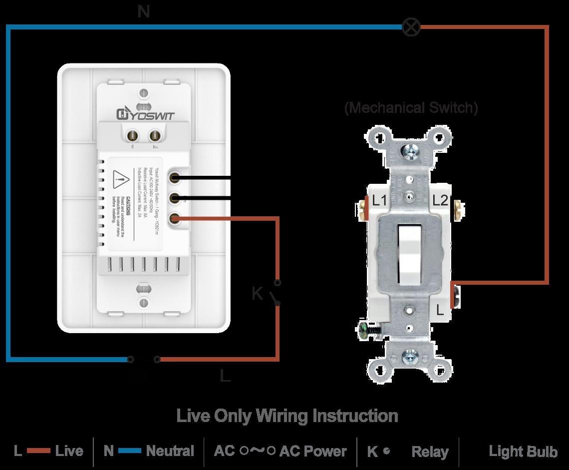 Tremendous Smart 3 Way Switch Socket 120 1 Gang Smart Home Yoswit Com Wiring Cloud Rineaidewilluminateatxorg