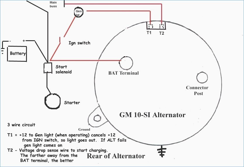 gm delco alternator wiring diagram  wiring diagram solid