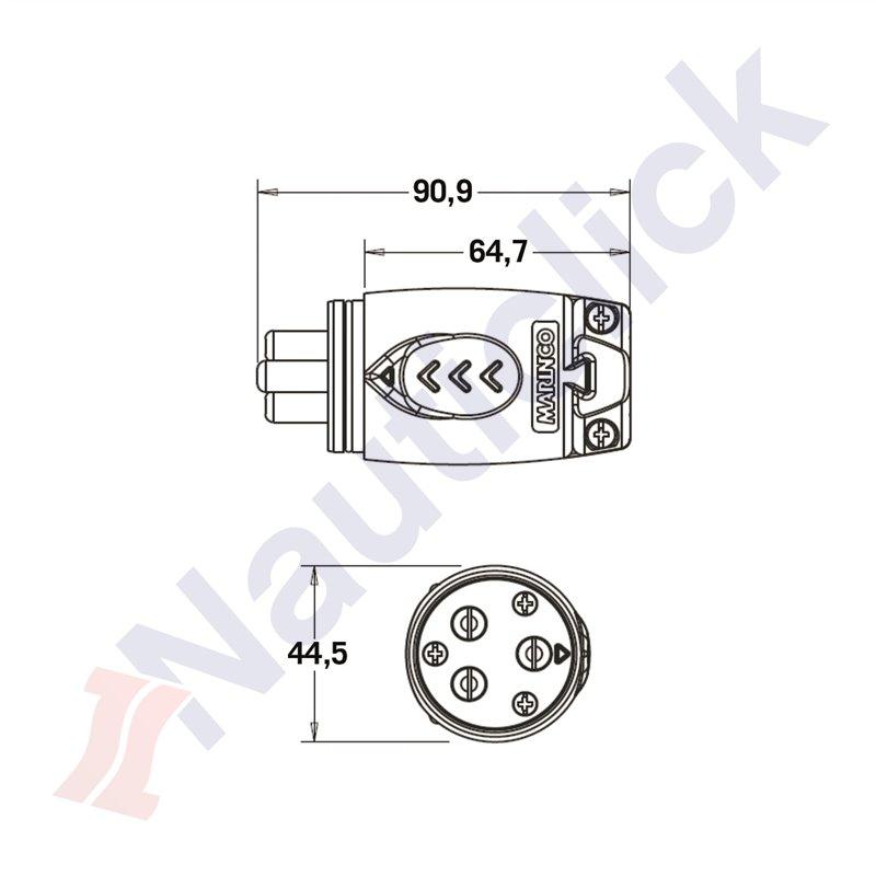 yy1129 motor plug receptacle on marinco trolling motor