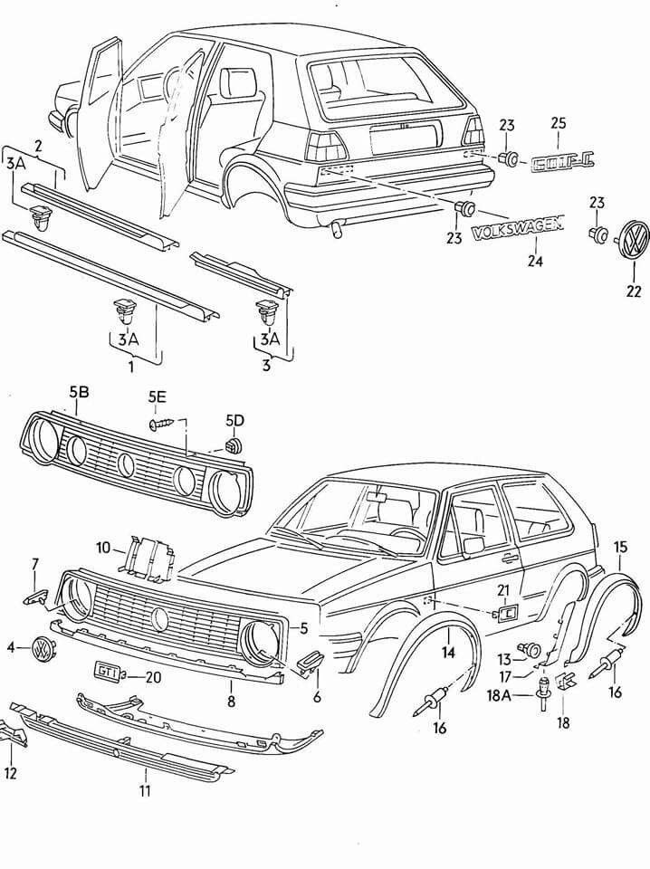 Superb Golf Mk2 Parts Golf Golf Mk2 Volkswagen Golf Mk2 Y Golf Wiring Cloud Hemtegremohammedshrineorg