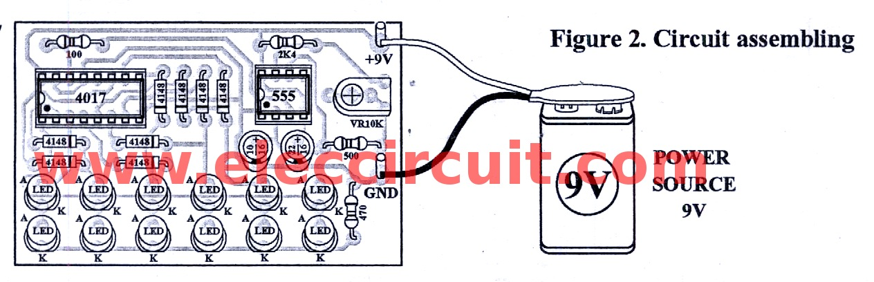 Surprising Led Chaser Circuit With Pcb Layout Running Lights Eleccircuit Com Wiring Cloud Timewinrebemohammedshrineorg